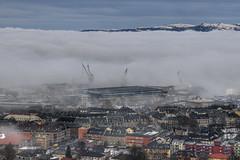 Morning Fog in Trondheim, Norway (Arve Johnsen) Tags: mist norway misty fog norge foggy norwegen dora trondheim lademoen norvege tke kuhaugen fognami tsunamioffog