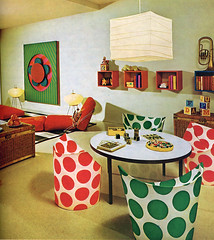 60s DIY psychedelia (ouno design) Tags: diy mod 60s colorful room polka retro nostalgia spots 1960s dots psychedelic technicolor decor interiordesign papiermache kooky garish recroom toyroom playroom childrensroom designbooks