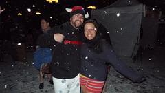 Pantless Smiles (Rob Blatt) Tags: nyc snow subway legs manhattan snowing unionsquare nopants pantless improveverywhere robblatt barelegs nopantssubwayride theambershow pantssubwayride