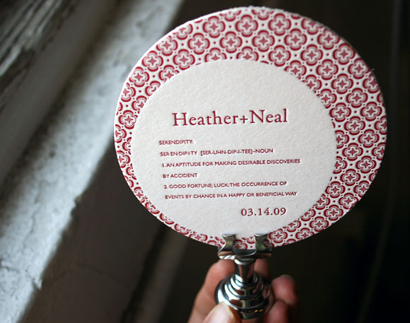 January 21st, 2009. Here's a sweet keepsake letterpress coaster that would
