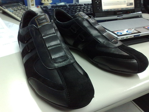 BOSS休閒皮鞋(黑)