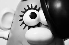 A Clockwork Potato (~aspidistra~) Tags: bw painting toy nikon faces copycat explore mrpotatohead 92 eyeliner aclockworkorange page6 d90 trp alexdelarge fgr asicas 3652009