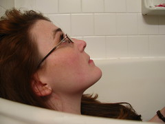 Self Portrait (snowyowl_ecs) Tags: selfportrait tub scavengerhunt digitalphotographyproject erinsullivan