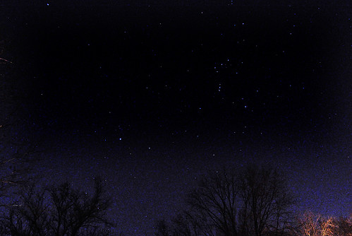 Orion the Hunter Striding Across the Sky on a Winter Night