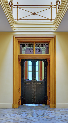 Old Courthouse, Jefferson National Expansion Memorial, in Saint Louis, Missouri, USA - Door to Circuit Court #13
