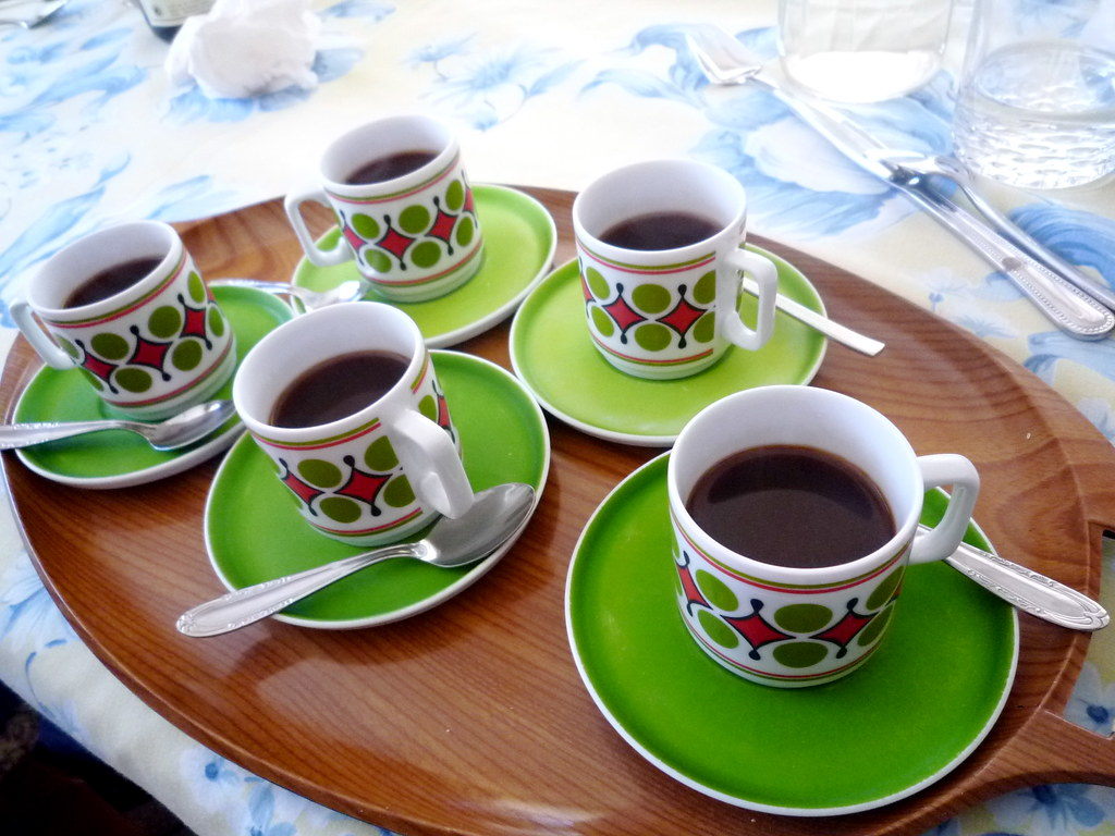 Retro espresso cups