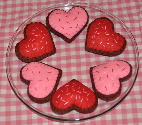 Felt Valentine's Cookies