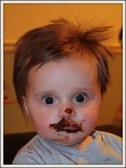 Chocolate face Matthew (Thrash Merchant) Tags: boy baby cute face canon matthew chocolate picnik eos450d