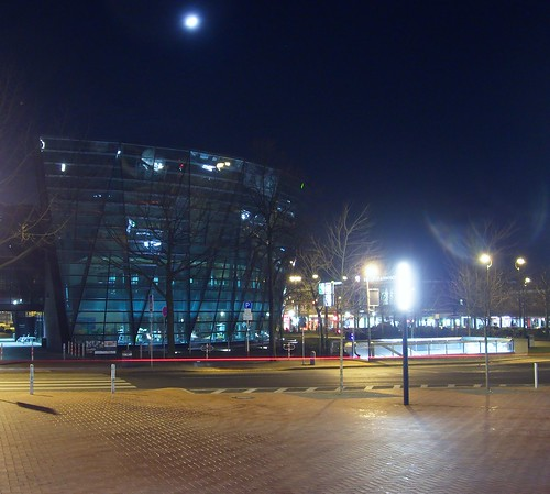 Dortmunder Bibliothek bei Nacht