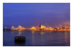 Corus Dream (Reografie) Tags: longexposure nightphotography plant haven industry water night port ellen factory purple nacht steel smoke nederland steam fue pollution nightphoto bluehour masters avond refinery industrie por chemical nachtfotografie ijmuiden corus nightpictures botlek petrochemical avondfotografie steelfactory portofrotterdam petrochemie nibbie reografie eografie gasrefineries