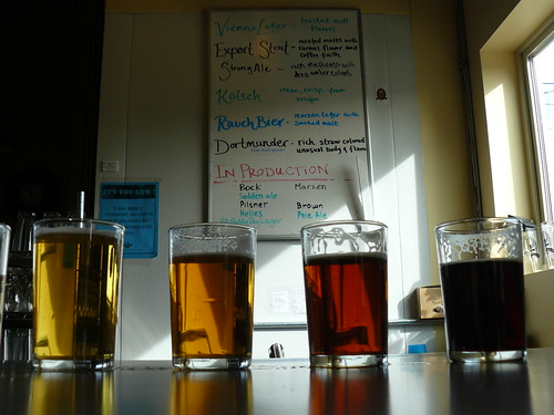 Enjoy a sampler at Chuckanut Brewing in Bellingham, WA