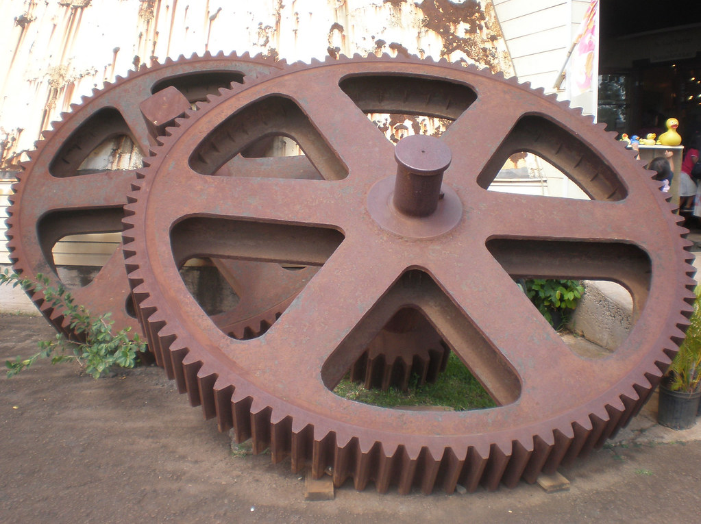 Grinding gear wheels, Waialua Sugar Mill