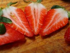 strawberries (LastBrownie) Tags: macro frutas fruits pieces strawberries fresas