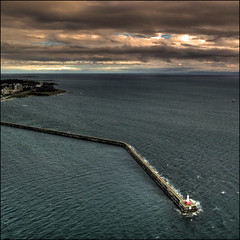 Victoria Breakwater (ecstaticist) Tags: ocean sky cloud lighthouse canada vancouver photoshop canon island bc walk wave victoria aerial helocopter recreation stroll hdr breakwater neatimage photomatix tonemapped tonemapping g10 pseudohdr