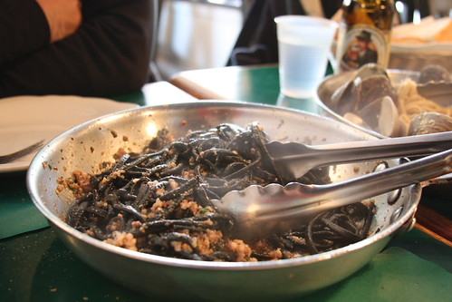 Squid Ink pasta at Daily Catch