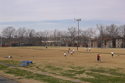 The former Christian Brothers College High School, in Clayton, Missouri, USA - athletics field