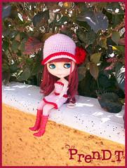 Frida Tomando el sol (PrenD-T) Tags: cute doll sweet crochet kawaii blythe natashamoore prendt