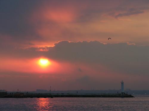 Kadıköy naplemente - a fagyás elött