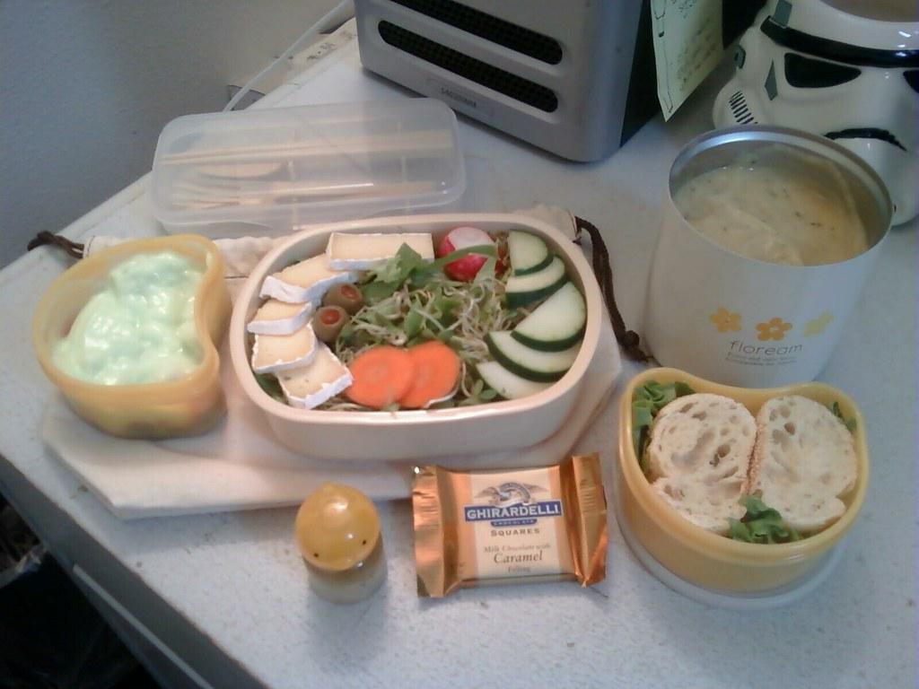 Bento #62: Soup 'n' salad