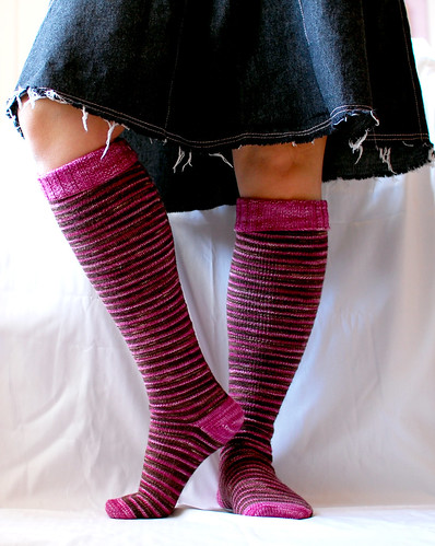 delicious stripey knee socks!