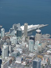 Downtown Vancouver from the air (Zorro1968) Tags: art vancouver aviation air stock artforsale