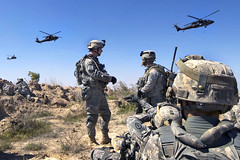 Hovering Hawks (The U.S. Army) Tags: black infantry hawk iraq helicopter 25th blackhawk division balad 24th oif platoon brigade hawks regiment stryker recon ruz diyala