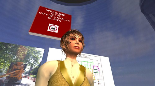 Pamela Broviak, city engineer and director of public works for LaSalle, Ill., in Second Life