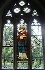 [280] St Lawrence : St Luke the Physician (Budby) Tags: church window stainedglass isleofwight stlawrence williammorris preraphaelite