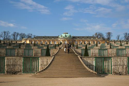 the terraced gardens of Sanssouci