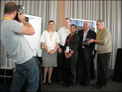 Team collects award