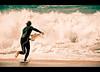 Surfer @ Bells Beach (chylle) Tags: travel beach surf australia victoria greatoceanroad bellsbeach mfs2009