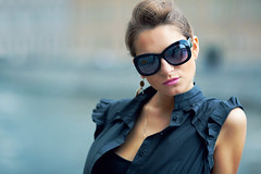 Anastasia #2 (Geshpanets) Tags: portrait girl beauty face sunglasses glasses bokeh lips 5d 135mm 13520
