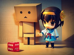 Fake Dice? (willycoolpics.) Tags: dice game toys japanese action figure picnik danbo haruhi suzumiya revoltech nendoroid danboard