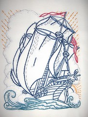 Your Ship Comes Home (glazedangel101) Tags: needlework embroidery northernireland tallships 2009 hooplove bcampbellto