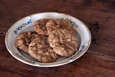 Milk Chocolate Oatmeal Raisin Cookies