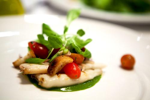 Calamari con Fave e Insalata Panzanella, 2