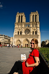 Deb and Epsilon in front of Notre Dame