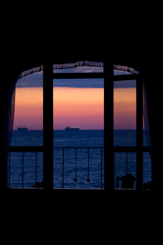 Window at sunset (by xbody)
