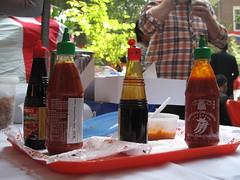 An assortment of sauces