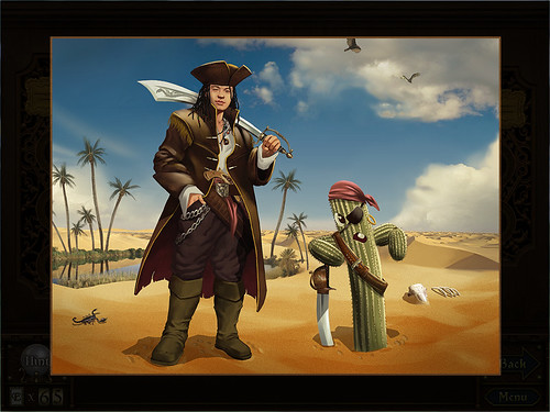 Steve the Nomadic Pirate and his companion Cactus Bruce