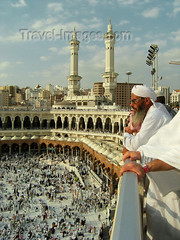Saudi Arabia-Mecca-hajj  A Muslim looks at Kaaba in Haram Mosque (mirza Rasheed kasur) Tags: above people al asia view god top minaret muslim islam religion pray praying mosque arabic holy arab saudi arabia ramadan haram saudiarabia submission pilgrimage prophet ramadhan mohammad mecca prayers masjid submit allah pilgrim umrah muhammad mekah quran makkah hajj koran kaaba moslem umra kaabah meccah holiest circumambulate masjidilharam circumambulating
