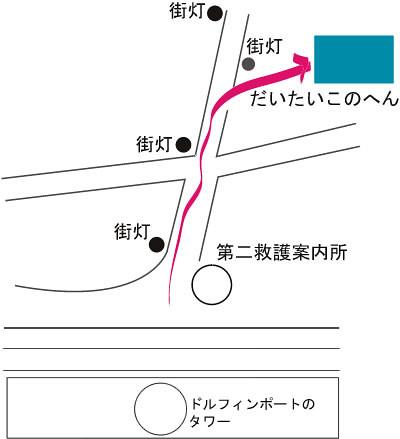 リザーブシートへの地図2009