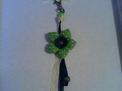 Chaveiro flor (Bychies Criaes) Tags: fuxico tecido chaveiro