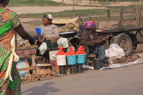 Accra market.