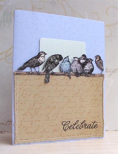 Hero Arts Digital Gift Card Holder - Vintage Skyland Birds