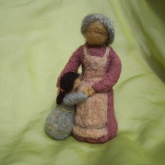 Needle Felted Grandma (haddy2dogs) Tags: family waldorf friendly etsy eco haddy2dogs