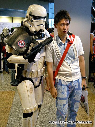 Battle-worn stormtrooper