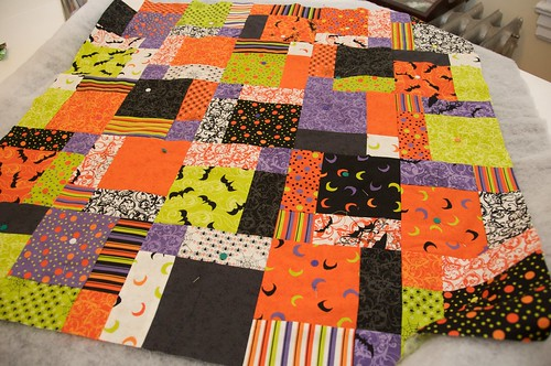 Halloween Quilted Table Topper In Progress!