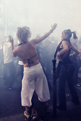 Techno Parade 2009  Paris (Thibault Dangraux) Tags: party music paris girl dance smoke danse parade techno musique technoparade technoparade2009