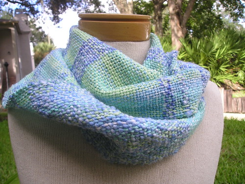 Handwoven: Caribbean Blue Scarf